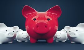 Η τράπεζα Piggy σώζει την επένδυση χρημάτων Στοκ Εικόνα