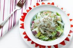 Η τραγανές Apple και σαλάτα σπόρου ηλίανθων Στοκ φωτογραφία με δικαίωμα ελεύθερης χρήσης
