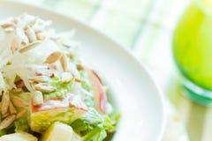 Η τραγανές Apple και σαλάτα σπόρου ηλίανθων Στοκ Εικόνες