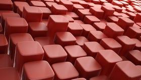 η τρισδιάστατη ανασκόπηση abstrct εμποδίζει το κόκκινο Στοκ φωτογραφία με δικαίωμα ελεύθερης χρήσης