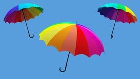 Η τρισδιάστατη απεικόνιση περιστροφής ομπρελών δίνει Στοκ εικόνες με δικαίωμα ελεύθερης χρήσης