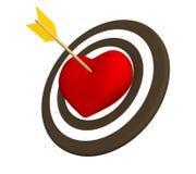 η τρισδιάστατη καρδιά βελών διαπέρνησε το κόκκινο Στοκ φωτογραφίες με δικαίωμα ελεύθερης χρήσης