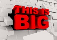 η τρισδιάστατη λέξη αυτό είναι μεγάλο σπάσιμο μέσω του τοίχου τούβλων διανυσματική απεικόνιση