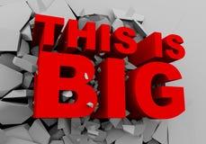η τρισδιάστατη λέξη αυτό είναι μεγάλο σπάσιμο μέσω του τοίχου απεικόνιση αποθεμάτων