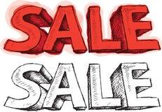 η τρισδιάστατη απεικόνιση απομόνωσε το λευκό κειμένων πώλησης Στοκ εικόνα με δικαίωμα ελεύθερης χρήσης