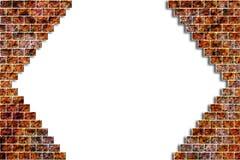 η τρισδιάστατη απεικόνιση τρυπών τούβλου δίνει τον τοίχο Στοκ Εικόνες