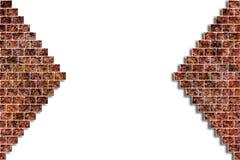 η τρισδιάστατη απεικόνιση τρυπών τούβλου δίνει τον τοίχο Στοκ Φωτογραφίες