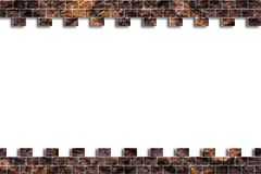 η τρισδιάστατη απεικόνιση τρυπών τούβλου δίνει τον τοίχο Στοκ φωτογραφίες με δικαίωμα ελεύθερης χρήσης
