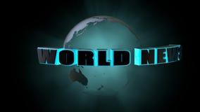 η τρισδιάστατη αφηρημένη εικόνα ειδήσεων γραφικής παράστασης ανασκόπησης μπλε δίνει τον κόσμο