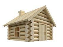 η τρισδιάστατη εικόνα απεικόνισης σπιτιών απομόνωσε μικρό ξύλινο Διανυσματική απεικόνιση