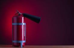 η τρισδιάστατη εικόνα πυρκαγιάς πυροσβεστήρων ανασκόπησης απομόνωσε το λευκό Στοκ Φωτογραφίες