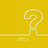 η τρισδιάστατη ερώτηση σημαδιών εικονιδίων δίνει Στοκ Φωτογραφία