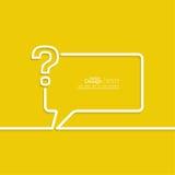 η τρισδιάστατη ερώτηση σημαδιών εικονιδίων δίνει Στοκ Εικόνα