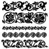 η τρισδιάστατη διακόσμηση εικόνας υπολογιστών floral παραγμένη δίνει το σύνολο Στοκ Φωτογραφία