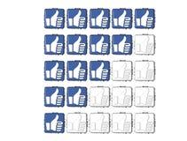 η τρισδιάστατη μπλε χειρονομία όπως το κουμπί εκτίμησης χτυπά εδώ το κείμενο φραγμών Στοκ εικόνα με δικαίωμα ελεύθερης χρήσης