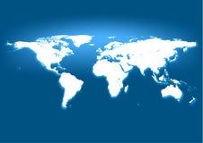 Μπλε χάρτης επιχειρησιακών κόσμων Στοκ φωτογραφία με δικαίωμα ελεύθερης χρήσης