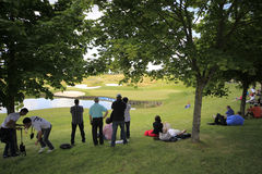 Η τρύπα 16 στο γαλλικό γκολφ ανοίγει το 2013 Στοκ φωτογραφίες με δικαίωμα ελεύθερης χρήσης