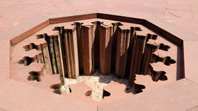 Η τρύπα του οχυρού Agra στοκ εικόνα