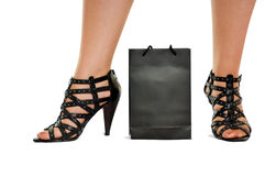 η τσάντα πίσω από τα παπούτσι&alph Στοκ Εικόνα