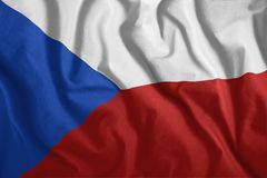 Η τσεχική σημαία πετά στον αέρα Ζωηρόχρωμος, εθνική σημαία της Δημοκρατίας της Τσεχίας Πατριωτισμός, ένα πατριωτικό σύμβολο διανυσματική απεικόνιση