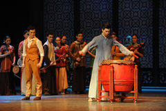 0 η τυμπανιστής-τρίτη πράξη των γεγονότων δράμα-Shawan χορού του παρελθόντος Στοκ Εικόνα