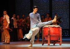 0 η τυμπανιστής-τρίτη πράξη των γεγονότων δράμα-Shawan χορού του παρελθόντος Στοκ φωτογραφία με δικαίωμα ελεύθερης χρήσης