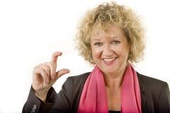 Η τόσο μικρή χειρονομία η κυρία Στοκ φωτογραφία με δικαίωμα ελεύθερης χρήσης