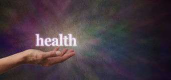 Η υγεία σας είναι στα χέρια σας Στοκ εικόνα με δικαίωμα ελεύθερης χρήσης
