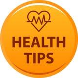 Η υγεία τοποθετεί αιχμή στο κουμπί Στοκ φωτογραφίες με δικαίωμα ελεύθερης χρήσης