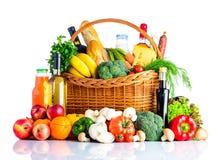 Η υγιής κατανάλωση τροφίμων απομονώνει στο άσπρο υπόβαθρο Στοκ Φωτογραφία