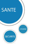 Η υγιεινή και η ασφάλεια προστατεύουν την υγεία διανυσματική απεικόνιση