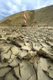 Η υπερθέρμανση του πλανήτη κάνει τη γη να στεγνώσει Στοκ εικόνα με δικαίωμα ελεύθερης χρήσης