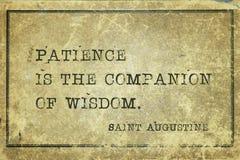 Η υπομονή είναι Άγιος Augustine στοκ εικόνα με δικαίωμα ελεύθερης χρήσης