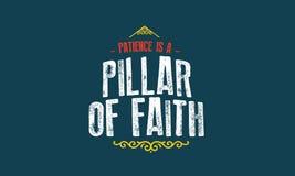 Η υπομονή είναι ένας στυλοβάτης του διανύσματος πίστης ελεύθερη απεικόνιση δικαιώματος