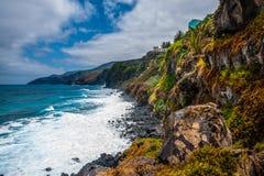Η υποτροπική κυματωγή της ακτής Λα Palma Στοκ φωτογραφία με δικαίωμα ελεύθερης χρήσης