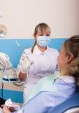 Η υποδοχή ήταν στο θηλυκό οδοντίατρο Στοκ εικόνα με δικαίωμα ελεύθερης χρήσης