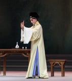 """Η υπόσχεση-τρίτη πράξη αρσενικό κίτρινο κρασί-Kunqu Opera""""Madame άσπρο Snake† Στοκ Εικόνα"""