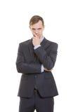 Η δυσπιστία χειρονομιών βρίσκεται Γλώσσα του σώματος άτομο μέσα στοκ εικόνα με δικαίωμα ελεύθερης χρήσης