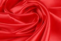 η υφασματεμπορία ανασκόπησης απομόνωσε το κόκκινο λευκό μεταξιού Στοκ Φωτογραφίες
