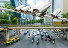 η υψηλή απεικόνιση CCTV φωτογραφικών μηχανών ανασκόπησης απομόνωσε το ποιοτικό λευκό στοκ εικόνα με δικαίωμα ελεύθερης χρήσης