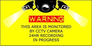 η υψηλή απεικόνιση CCTV φωτογραφικών μηχανών ανασκόπησης απομόνωσε το ποιοτικό λευκό Στοκ Φωτογραφίες