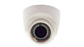 η υψηλή απεικόνιση CCTV φωτογραφικών μηχανών ανασκόπησης απομόνωσε το ποιοτικό λευκό Στοκ Εικόνες
