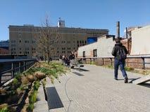 Η υψηλή γραμμή, Μανχάταν, πόλη της Νέας Υόρκης, ΗΠΑ στοκ φωτογραφίες με δικαίωμα ελεύθερης χρήσης