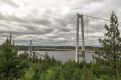Η υψηλή νύφη ακτών στη Σουηδία Στοκ Φωτογραφία