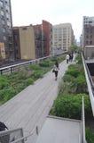 Η υψηλή πόλη Tom Wurl της Νέας Υόρκης πάρκων γραμμών Στοκ Εικόνες