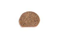 Η φέτα του φρέσκου ψωμιού σίκαλης απομόνωσε το άσπρο υπόβαθρο Στοκ εικόνα με δικαίωμα ελεύθερης χρήσης
