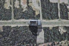 Η Φίατ 500 σε έναν χάρτη Στοκ φωτογραφία με δικαίωμα ελεύθερης χρήσης