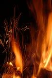 η φλόγα προκαλεί τα ίχνη Στοκ Φωτογραφία