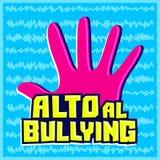 Η φοβέρα Al Alto, σταματά το ισπανικό κείμενο ελεύθερη απεικόνιση δικαιώματος