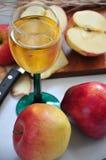 Η φρέσκια κόκκινη Apple με το χυμό Στοκ Εικόνες